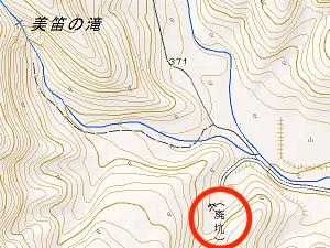 地形図 白老岳から抜粋
