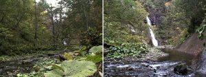 昇竜の滝と神門の滝の位置関係