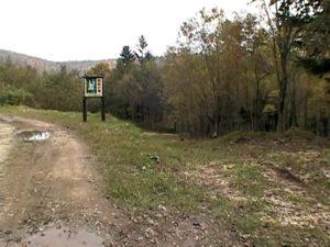 赤岩の滝遊歩道入口