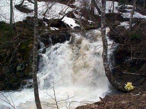 別沢の滝状の流れ
