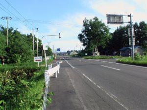 道道1115線から町道への分岐