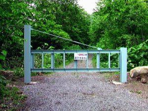 林道入口のゲート