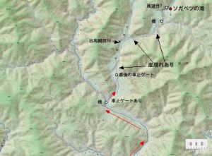 ソガベツの滝周辺地図