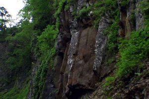 岩壁の崩落