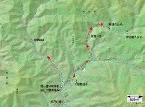 菅野温泉周辺地図