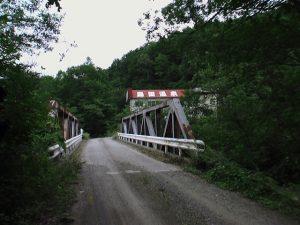 橋と島田温泉跡