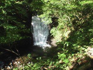 俯瞰で見た魚留の滝