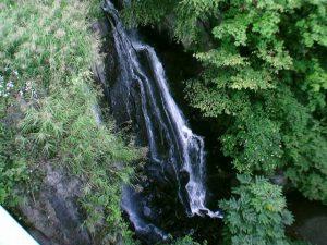 俯瞰で見た壮瞥滝