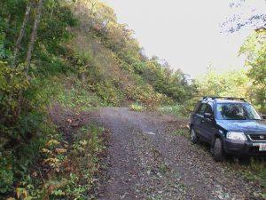 幌別鉱山線林道駐車スペース