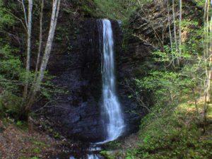 ショロマの滝 上の直瀑部分