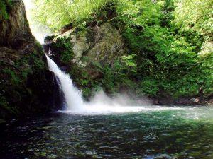 広くて深い滝壺