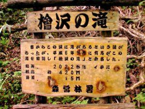 滝の案内看板