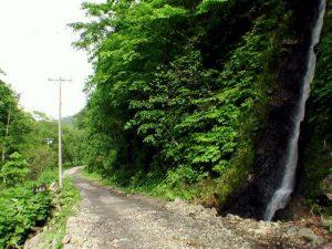 五筋の滝と看板