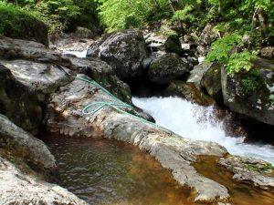 湯船と平田内川