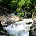 湯船から見た平田内川上流