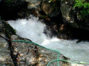 湯船の横の激流