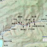 貝取澗渓谷の地図