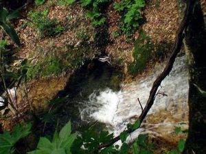 滝壺と赤土