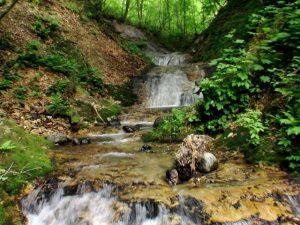 七色滝を沢から撮影