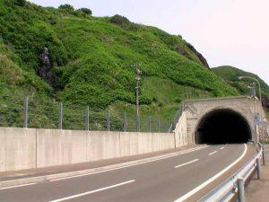 赤石トンネルの南側