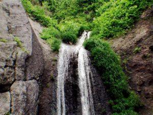 藻岩の滝 落口