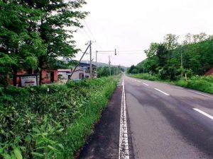 シブンナイ線入り口の案内看板