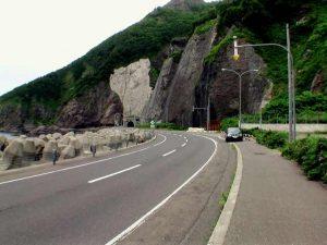 横滝トンネルの北側200m