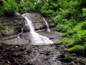 盃川上流の滝(泊村)