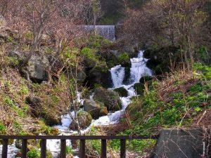上流の堰堤