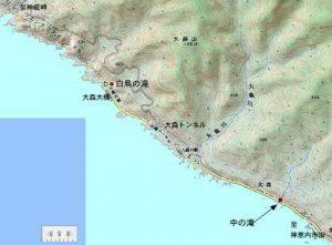 2006年当時の白鳥の滝周辺地形図