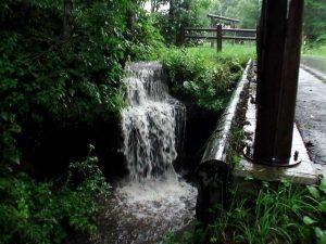 衣笠の滝 正面からの全景