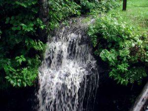 衣笠の滝 上の段