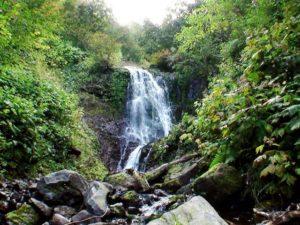 支湧別川から撮影した冷涼の滝
