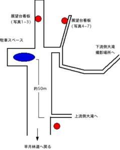 駐車スペース近辺の略図