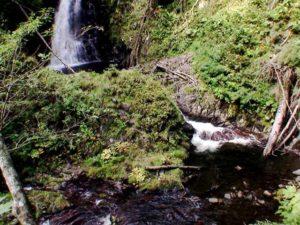 下流の大滝の下にも滝状の流れ