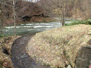 朝日川と幌向川の合流