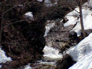 上流の滝状の流れ