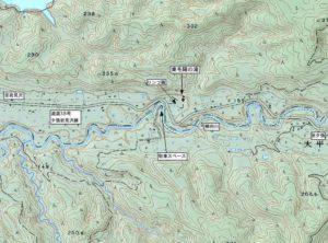 2007年作成東毛陽の滝周辺の地図