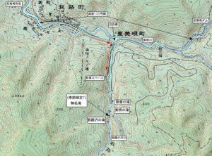 我路の沢川周辺地図