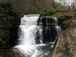 歌音の滝を左岸の正面から撮影