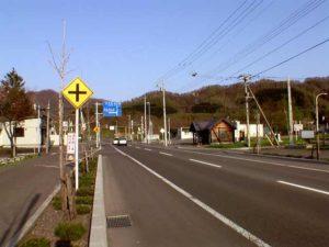 道道135号線 市街中心部の分岐