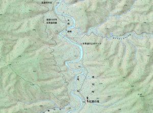 紅葉ノ滝周辺の地図