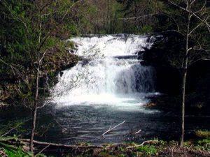 尻別川本流の滝 全景