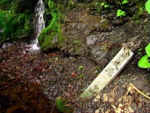 百歳滝看板