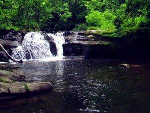 一の滝を正面から撮影