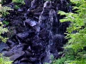 不老の滝の下部