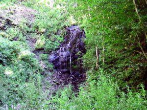 遊歩道終点から見る白帆の滝