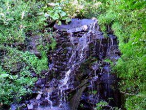 白帆の滝の上部