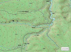 盤上の滝周辺地図