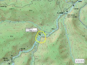 一糸の滝周辺地図